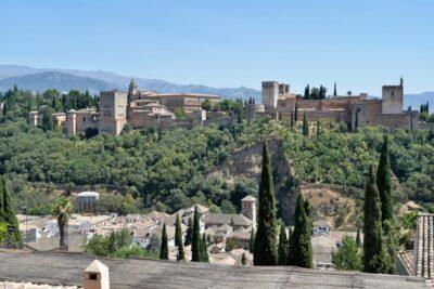 サンニコラス展望台から眺めるアルハンブラ宮殿-i