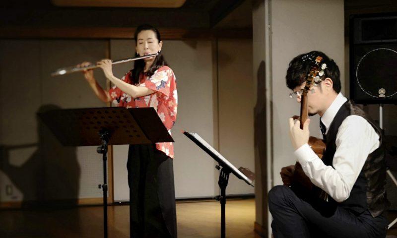 若菜(フルート)&力(ギター)@下北沢アレイホール-1
