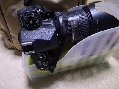 100均のファイルスタンドでリュック内に一眼レフカメラを収納-3