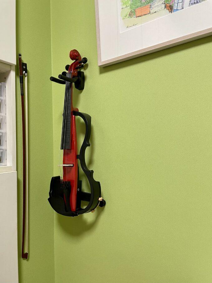 バイオリンの定位置